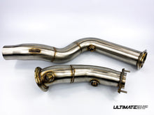 Load image into Gallery viewer, ULTIMATEBHP BMW F80 M3 3″ STAINLESS STEEL DECAT DOWNPIPES EXHAUST PIPE