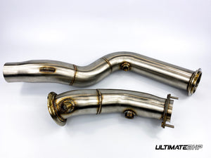 ULTIMATEBHP BMW M3 F80 DECAT DOWNPIPES 3″ STAINLESS STEEL EXHAUST PIPE