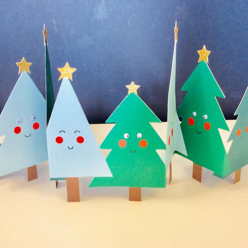 Season's Greetings Fold Out Christmas Trees
