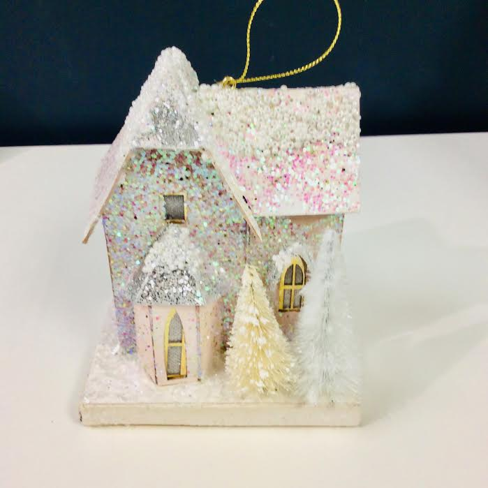 Winter Glitter House Ornament - Indie Indie Bang! Bang!