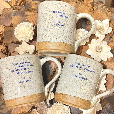 XO Family & Friends Quote Mugs - Indie Indie Bang! Bang!