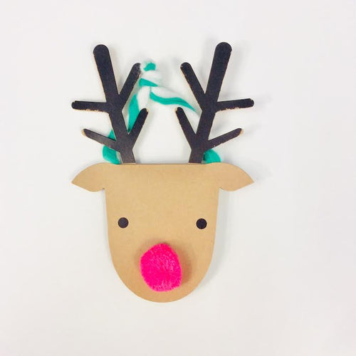 Hanging Reindeer Card
