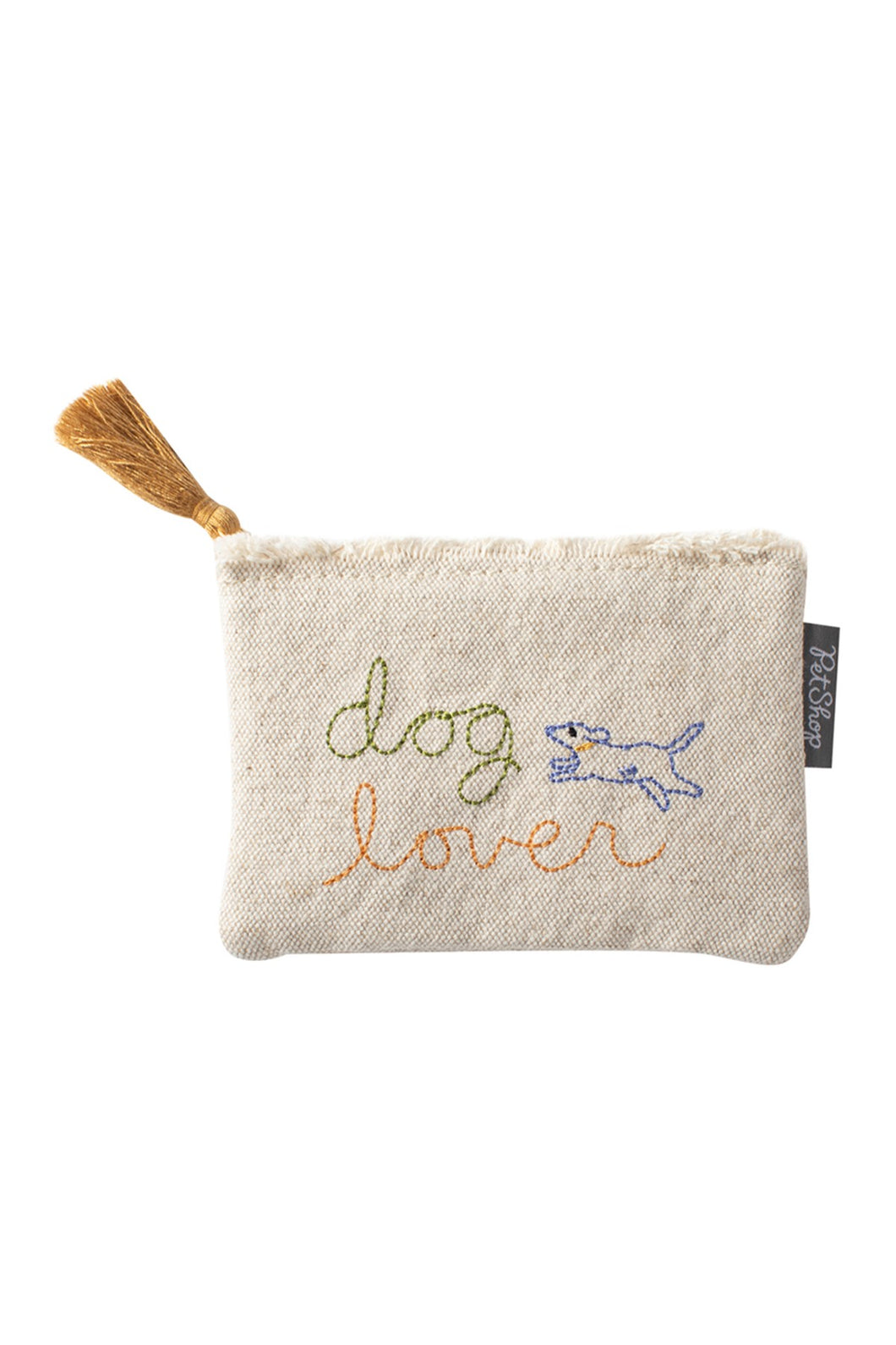 Coin Purse with Stiched Dog Lover - Indie Indie Bang! Bang!
