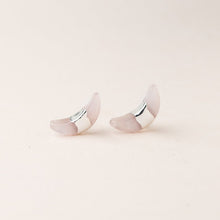 Load image into Gallery viewer, Rose Quartz Moonchild Studs - Indie Indie Bang! Bang!