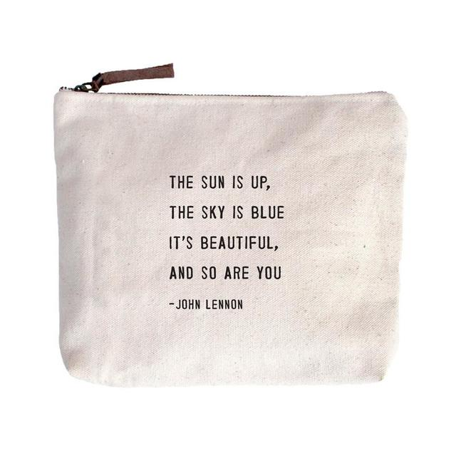 The Sun is Up John Lennon Canvas Zip Bag - Indie Indie Bang! Bang!