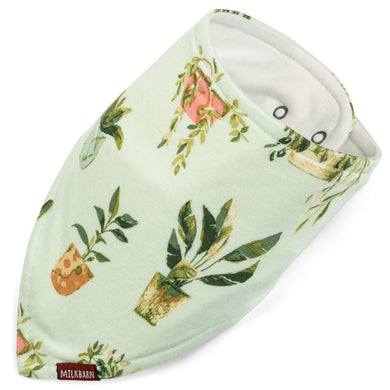 Bamboo Kerchief Bib - Potted Plants - Indie Indie Bang! Bang!