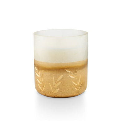 Winter White Small Frosted Glass Candle - Indie Indie Bang! Bang!