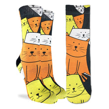 Load image into Gallery viewer, Janet Datu's Cats Are Watching Sock - Indie Indie Bang! Bang!