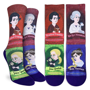 Famous Women in Science Sock - Indie Indie Bang! Bang!