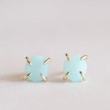 Load image into Gallery viewer, Amazonite Gemstone Prong Earrings - Indie Indie Bang! Bang!