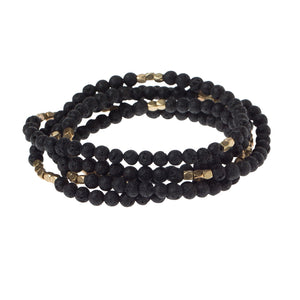 Lava Wrap Bracelet/Necklace - Black and Gold - Indie Indie Bang! Bang!