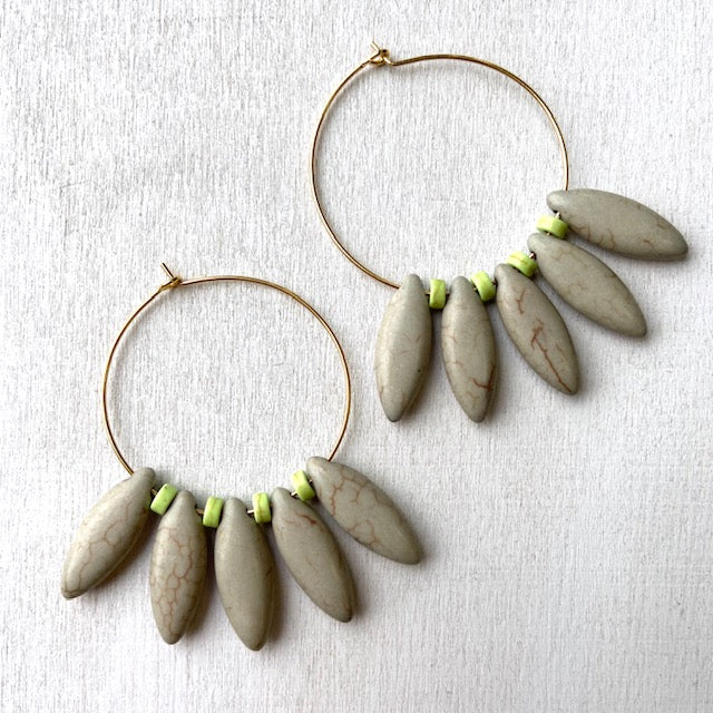 David Aubrey: Grey Point Earrings - Indie Indie Bang! Bang!