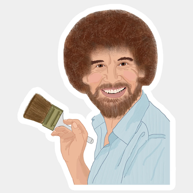 Bob Ross Sticker - Indie Indie Bang! Bang!