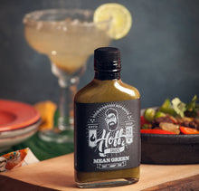 Load image into Gallery viewer, Hoff's Mean Green Jalapeno Hot Sauce - Indie Indie Bang! Bang!