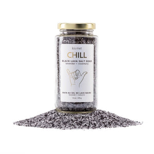 Chill - Black Lava Salt Soak - Indie Indie Bang! Bang!