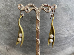 Michael Michaud Baby Pea Pod Earrings - Indie Indie Bang! Bang!