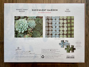 Succulent Garden double sided 500 piece jigsaw puzzle - Indie Indie Bang! Bang!