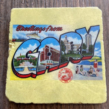 Load image into Gallery viewer, Vintage Gary Postcard Coaster - Indie Indie Bang! Bang!