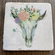 Load image into Gallery viewer, Floral Skull Coaster - Indie Indie Bang! Bang!