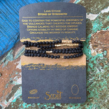 Load image into Gallery viewer, Lava Wrap Bracelet/Necklace - Black and Gold - Indie Indie Bang! Bang!