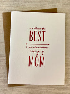 Best Mom Greeting Card - Indie Indie Bang! Bang!