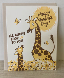Look up to you Mother's Day Greeting Card - Indie Indie Bang! Bang!