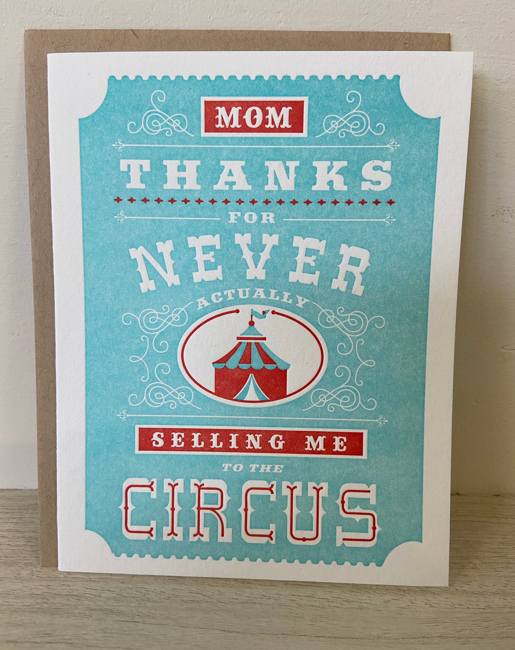 Circus Greeting Card - Indie Indie Bang! Bang!