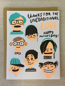 Unconditional Love Mother's Day Greeting Card - Indie Indie Bang! Bang!