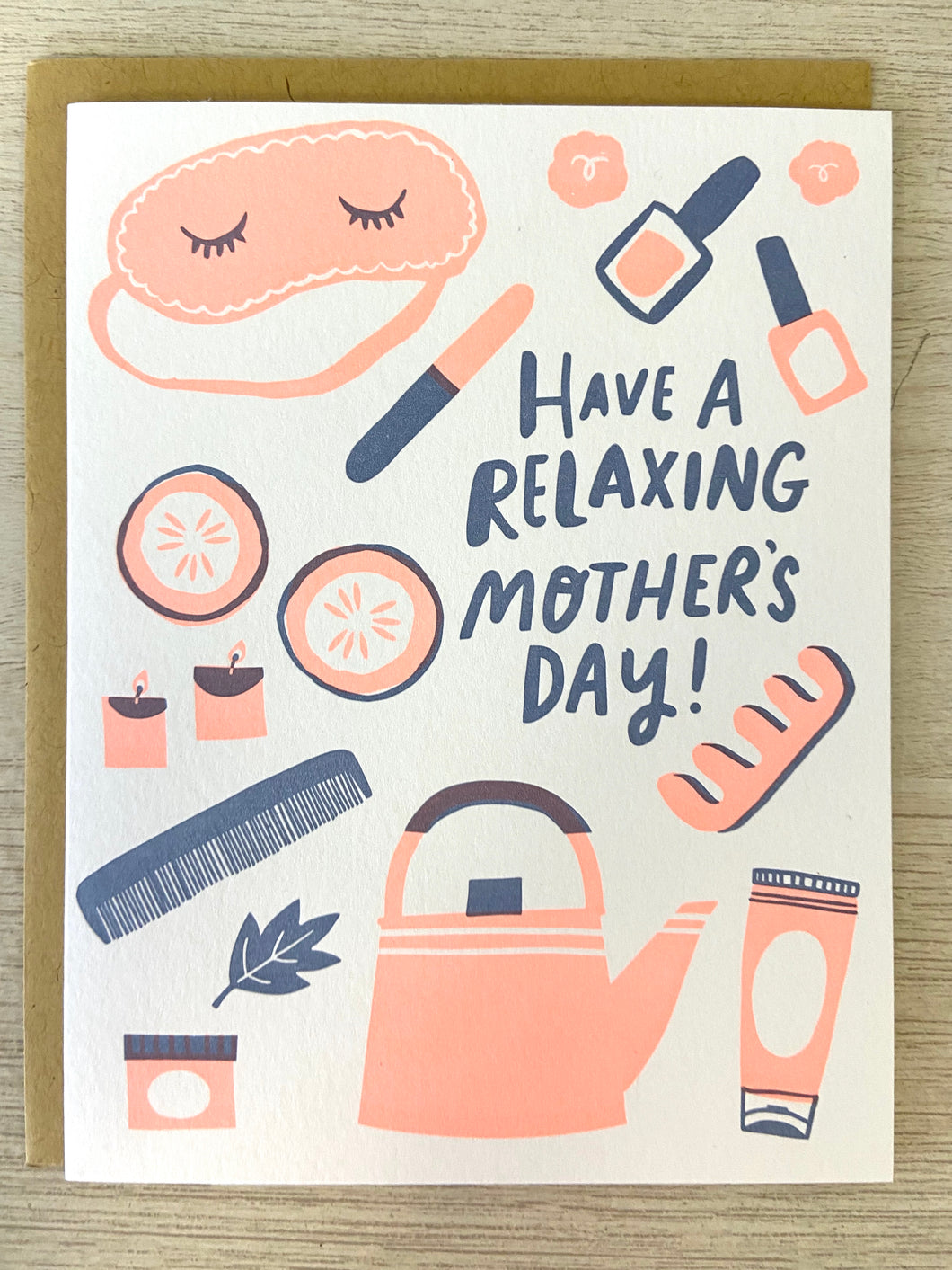 Relaxing Mother's Day Greeting Card - Indie Indie Bang! Bang!