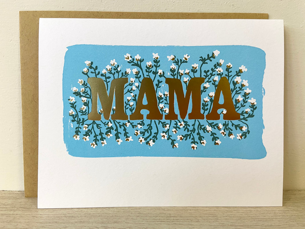 Mama Greeting Card - Indie Indie Bang! Bang!