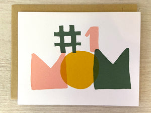 #1 Mom Greeting Card - Indie Indie Bang! Bang!