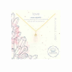 Energy Wildflower LOVE Necklace - Rose Quartz - Indie Indie Bang! Bang!