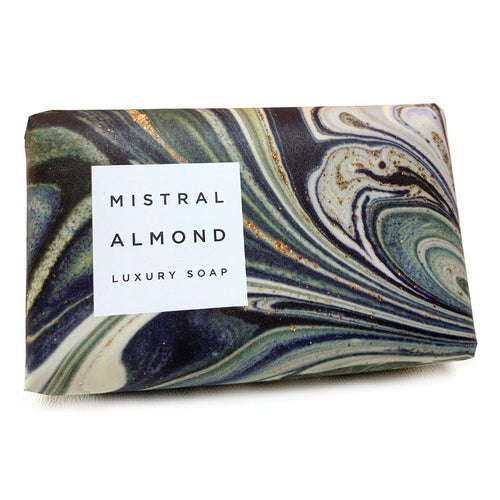 Almond Nut Marbled Soap