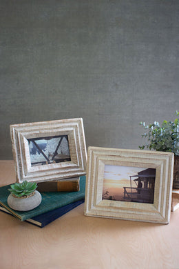 Whitewashed Recycled Wooden Photo Frames - Indie Indie Bang! Bang!