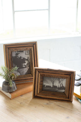 Recycled Natural Wood Photo Frames - Indie Indie Bang! Bang!