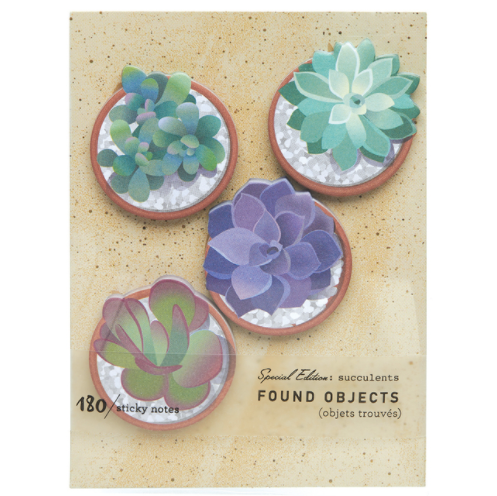 Succulents - Sticky Notes - Indie Indie Bang! Bang!