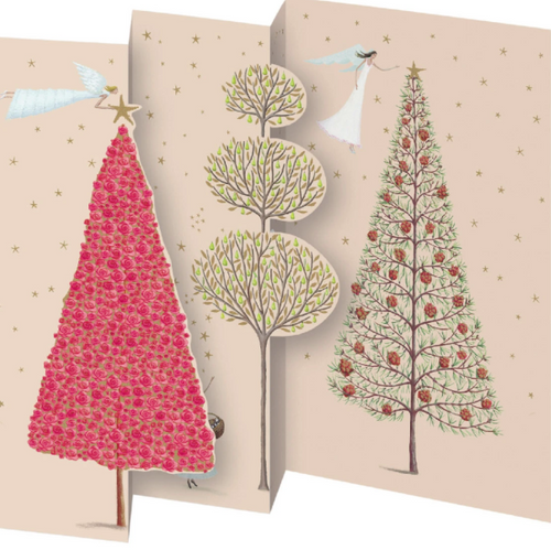 Christmas Tree Notecard Pack (5 tri-fold cards) box
