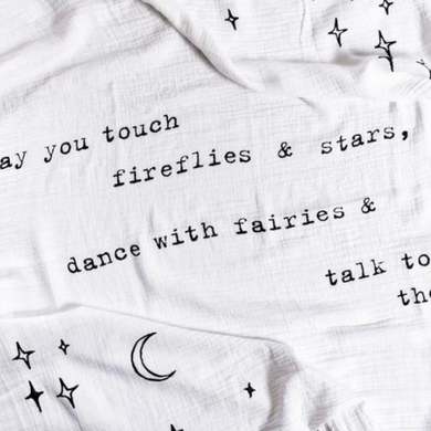 May You Touch Fireflies Swaddle Blanket - Indie Indie Bang! Bang!