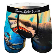 Load image into Gallery viewer, Shark Attack Men's Boxers - Indie Indie Bang! Bang!