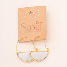Load image into Gallery viewer, Citrine Gold Prism Hoops - Indie Indie Bang! Bang!