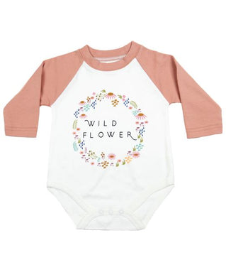 Wildflower Long Sleeve Baby Onesie - Indie Indie Bang! Bang!