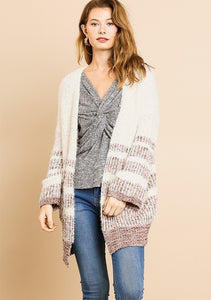 Multicolored Front Sweater Cardigan