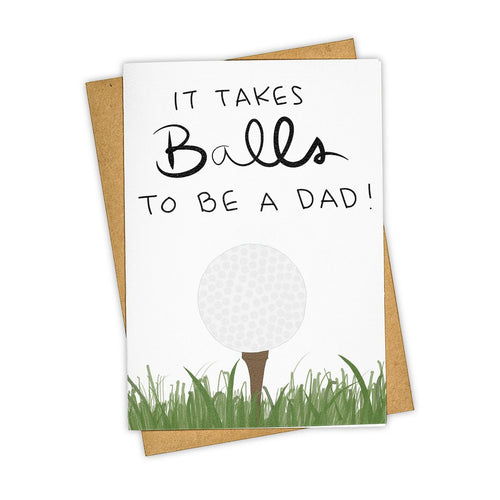 It Takes Balls Dad Card - Indie Indie Bang! Bang!