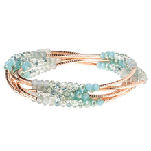 Load image into Gallery viewer, Icy Neptune Crystals + Rose Gold Wrap - Indie Indie Bang! Bang!