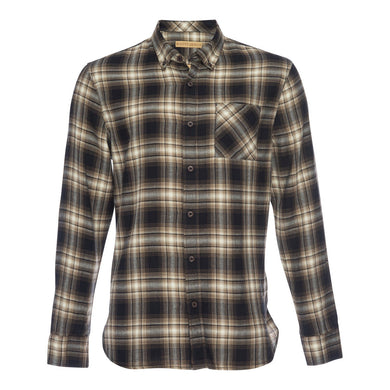 Truman Button Collar in Brown Plaid - Indie Indie Bang! Bang!