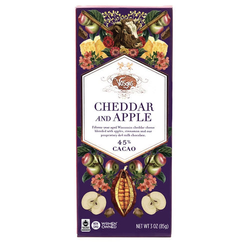 Vosges Cheddar and Apple Chocolate Bar - Indie Indie Bang! Bang!