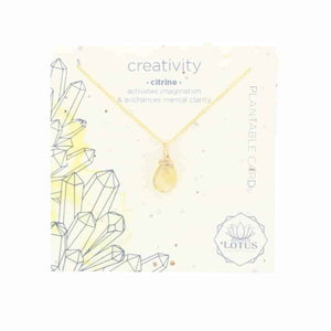 Energy Wildflower Necklace - Citrine Creativity - Indie Indie Bang! Bang!