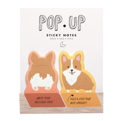 Corgi Pop Up Sticky Notes - Indie Indie Bang! Bang!