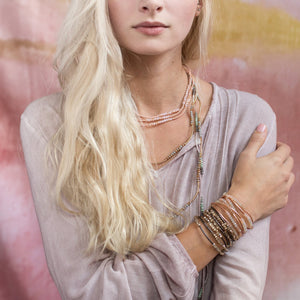 Rose Gold Wrap Bracelet/Necklace - Indie Indie Bang! Bang!