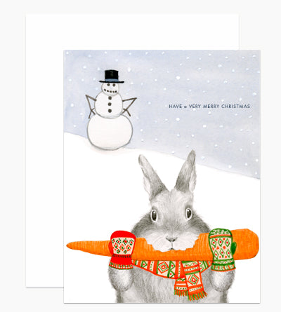 Christmas - Bunny Stealing Carrot